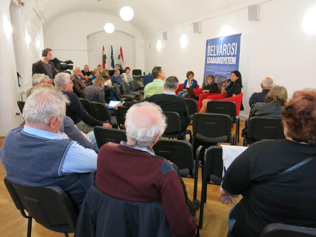 A Belvárosi Szabadegyetem 2015. november 11-i előadása